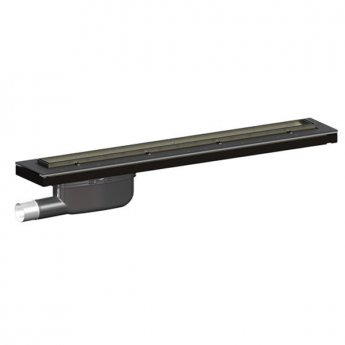 Purus Living Linear Parallel Wet Floor Drain, 800mm Wide, Stainless Steel Tile Grate
