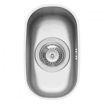 Pyramis Iris 1.0 Bowl Undermount Kitchen Sink with Waste Kit 180mm L x 304mm W - Stainless Steel