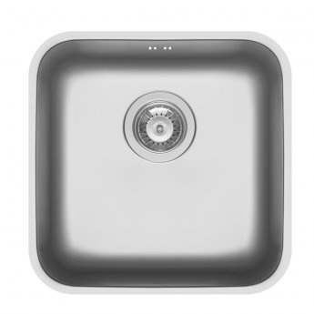 Pyramis Relia 1.0 Bowl Undermount Kitchen Sink with Waste Kit 424mm L x 424mm W - Stainless Steel