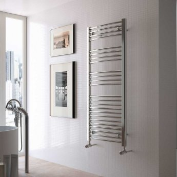 Radox Premier Curved Heated Towel Rail 1200mm H x 500mm W - White