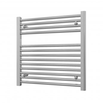 Radox Premier Straight Horizontal Heated Towel Rail 600mm H x 600mm W - Chrome
