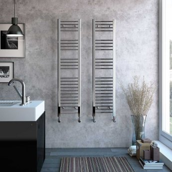 Radox Premier Straight Heated Towel Rail 1200mm H x 600mm W - White