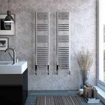 Radox Premier Straight Heated Towel Rail 1500mm H x 400mm W - White
