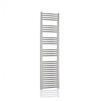 Radox Premier XL Curved Heated Towel Rail 1500mm H x 600mm W - Stainless Steel