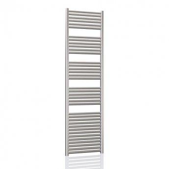 Radox Premier XL Straight Heated Towel Rail 1800mm H x 400mm W - Stainless Steel