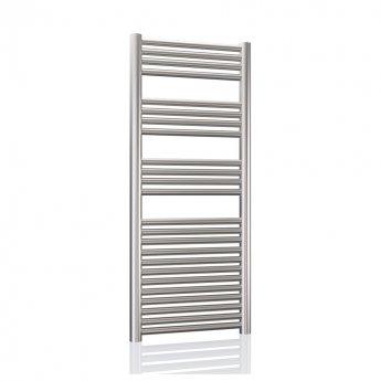 Radox Premier XL Slimline Straight Heated Towel Rail 1200mm H x 300mm W - Stainless Steel