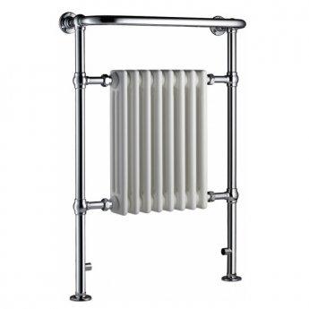 Radox Taurus Traditional Radiator Heated Towel Rail 965 H x 495 W - Chrome/White