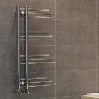 RAK Basilica Designer Heated Towel Rail 900mm H x 500mm W - Chrome