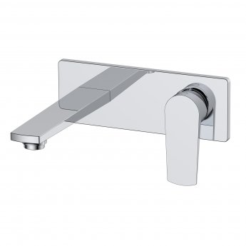 RAK Blade Wall Mounted Basin Mixer Tap with Back Plate - Chrome
