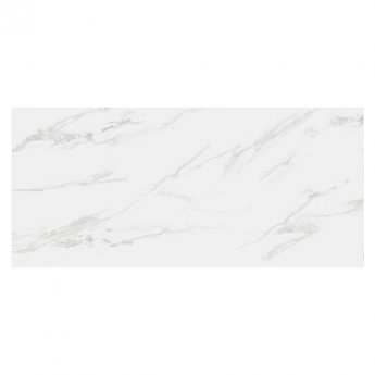 RAK Classic Carrara Full Lappato Open Book D Tiles - 1350mm x 3050mm - Hyper White (Box of 1)