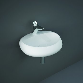 RAK Cloud Wall Hung Basin 550mm Wide 1 Tap Hole - Matt White