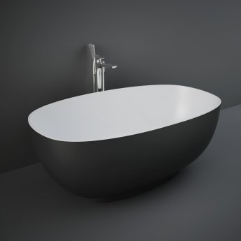 RAK Cloud Freestanding Bath 1400mm x 753mm - Matt Black