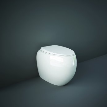 RAK Cloud Rimless Back to Wall Toilet with Urea Soft Close Seat - Alpine White