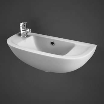 RAK Compact Cloakroom Basin 450mm Wide 1 LH Tap Hole