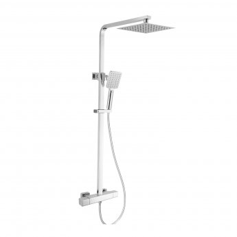 RAK Compact Thermostatic Square Bar Mixer Shower with Shower Kit + Fixed Head - Chrome