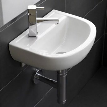 RAK Compact Special Needs Cloakroom Basin 380mm Wide 1 LH Tap Hole