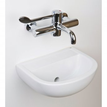 RAK Compact Special Needs HO Cloakroom Basin 380mm Wide 0 Tap Hole
