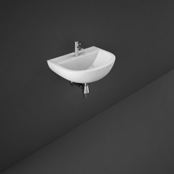 RAK Compact Special Needs Cloakroom Basin 500mm Wide 1 Tap Hole