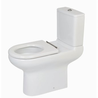 RAK Compact Special Needs Close Coupled Toilet with Lever Cistern - Ring Seat