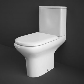 RAK Compact Close Coupled Toilet with Push Button Cistern - Soft Close Seat