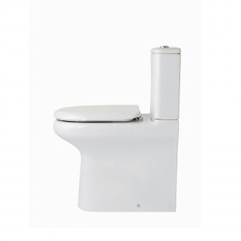 RAK Compact Deluxe Flush-to-Wall Toilet with Push Button Cistern - Soft Close Seat