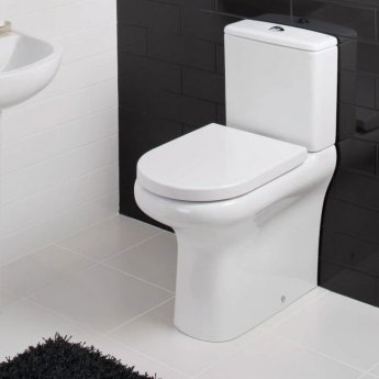 RAK Compact Deluxe Close Coupled Toilet with Push Button Cistern - Soft Close Seat