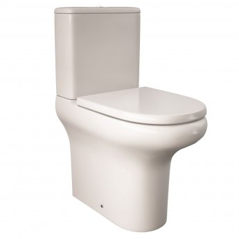 RAK Compact Rimless Flush-to-Wall Toilet without Soft Close Seat