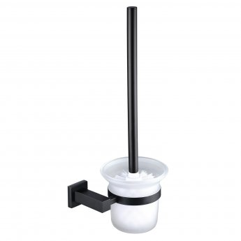 RAK Cubis Toilet Brush and Holder Wall Mounted - Black