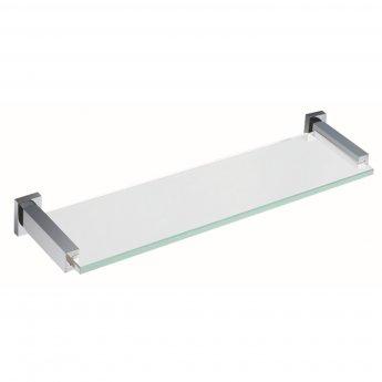 RAK Cubis Glass Shelf 467mm Wide - Chrome