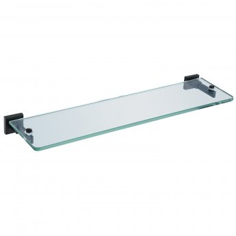 RAK Cubis Glass Shelf 467mm Wide - Black