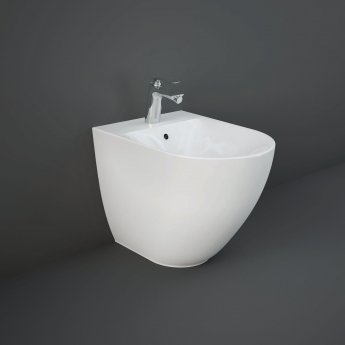 RAK Des Back To Wall Bidet with Hidden Fixing 520mm Projection - 1 Tap Hole