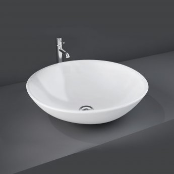 RAK Diana Sit-On Countertop Basin 450mm Wide - 0 Tap Hole