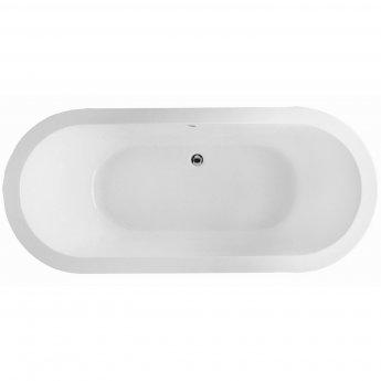 RAK DKM Double Ended Oval Bath 1800mm x 800mm - Acrylic