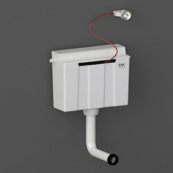 RAK Ecofix Furniture Cistern Complete With Dual Flush Push Button - Side Inlet