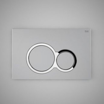 RAK Ecofix Polished Round Dual Flush Plates - Matt Chrome
