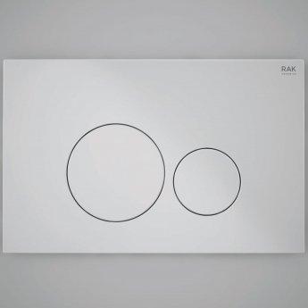 RAK Ecofix Round Dual Flush Plates - Matt Chrome