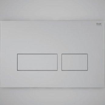 RAK Ecofix Rectangular Dual Flush Plates - Matt Chrome