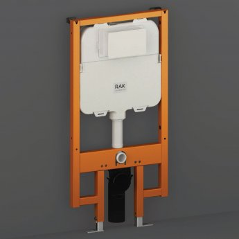 RAK Ecofix Concealed Toilet Support Frame with 80mm Concealed Cistern 1140mm High - Blue/White