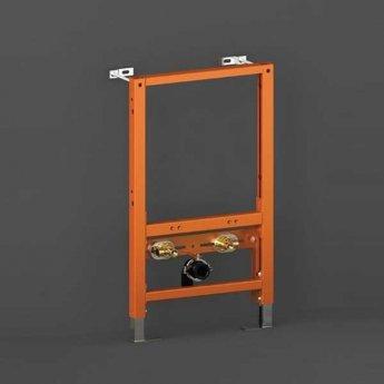 RAK Ecofix Concealed Bidet Support Frame with Adjustable Fittings 820mm High - Orange
