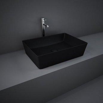 RAK Feeling Rectangular Countertop Wash Basin 500mm Wide - Matt Black