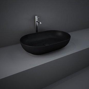 RAK Feeling Oval Countertop Wash Basin 550mm Wide - Matt Black