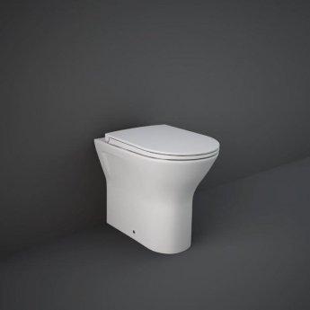 RAK Feeling Back to Wall Rimless Pan with Soft Close Seat - Matt White