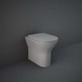 RAK Feeling Back to Wall Rimless Pan with Soft Close Seat - Matt Grey