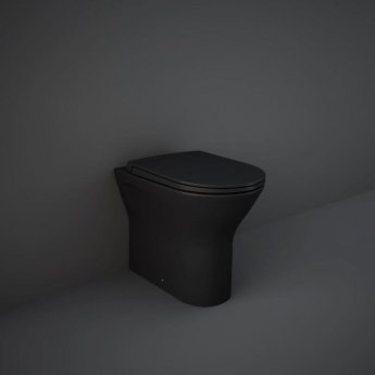 RAK Feeling Back to Wall Rimless Pan with Soft Close Seat - Matt Black