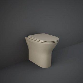 RAK Feeling Back to Wall Rimless Pan with Soft Close Seat - Matt Cappuccino