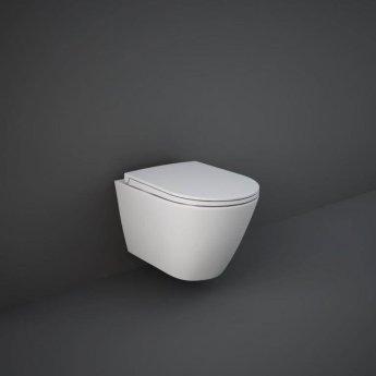 RAK Feeling Wall Hung Rimless Pan with Soft Close Seat - Matt White