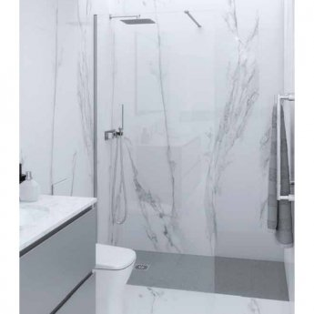 RAK Feeling Straight Wet Room Screen 2000mm High x 700mm Wide - 8mm