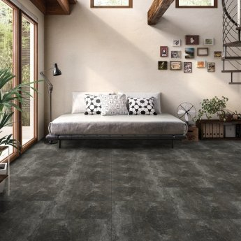 RAK Fusion Stone Lapatto Tiles - 300mm x 600mm - Black (Box of 6)