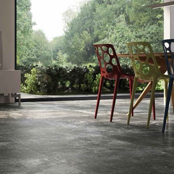 RAK Fusion Stone Lapatto Tiles - 300mm x 600mm - Dark Grey (Box of 6)