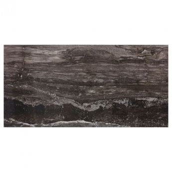 RAK Glam Marble Full Lappato Tiles - 600mm x 1200mm - Dark Brown (Box of 2)